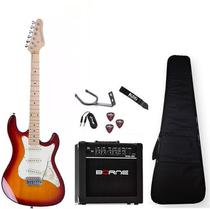 Kit Guitarra Strinberg Sts100 Cs Caixa Capa Correia Cabo -