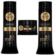 Kit Haskell Cavalo Forte 300ml Shampoo Condicionador Máscara -