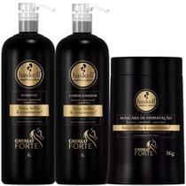 Kit Haskell Cavalo Forte Shampoo Condicionador Máscara 1kg/l -