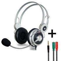 KIT Headset com Microfone Infokit HM-610MV + Adaptador P3 X P2 -