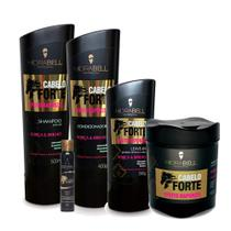 Kit Hidrabell Cabelo Forte Sh 500ml + Cond 400g + Másc 450g + Amp 40g