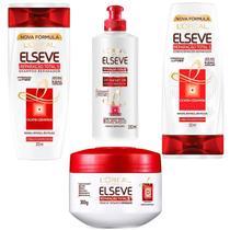 Kit Hidratação Elseve Reparação Total 5 Loreal Paris Shampoo 200 + Condicionador 200 + Creme Pentear + Creme Tratamento - L'Oréal Paris