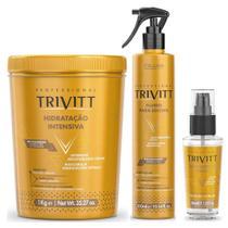 Kit Hidratação Trivitt Profissional Máscara, Fluido e Reparador -