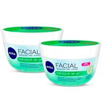 Kit Hidratante Facial Nivea Em Gel Fresh Pepino E Ácido Hialurônico 100g - 2 Unidades - Nívea