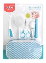 Kit Higiene Buba Cuidados Para Bebê Com Estojo Branco Azul - Buba Baby