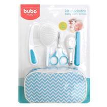 Kit Higiene Buba Cuidados para Bebê com Estojo Branco Azul -
