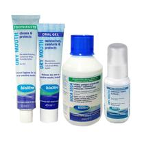 Kit Higiene Cuidado Boca Seca - Xerostomia Bioxtra- 4 Itens -