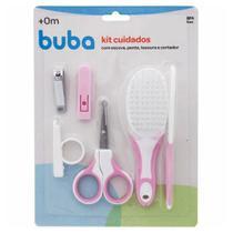 Kit higiene cuidados 4pçs rosa Buba Baby -