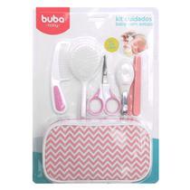 Kit Higiene Cuidados Baby Com Estojo Menina Branco Rosa Buba -