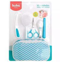 Kit Higiene Cuidados Baby Com Estojo Menino Branco Azul Buba -