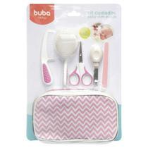 Kit Higiene Cuidados para Bebê com Estojo Branco Rosa Buba -