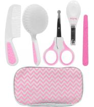 Kit Higiene Cuidados Para Bebê Com Estojo Rosa Buba 7286 -