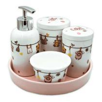 Kit higiene de porcelana 5 peças Amigold -