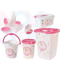 Kit Higiene E Acessórios P/O Quarto Do Bebe Bailarina - Plasutil