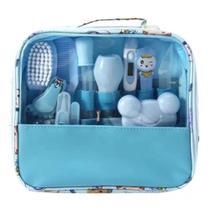 Kit Higiene Para Bebê Completo Cor Azul - Central Dos Bebes
