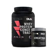 Kit Hipertrofia Whey Protein Concentrado Chocolate - Dux