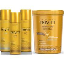 Kit Home care Leave-in + Mascara 1 kg (4 Produtos) - Trivitt -