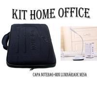 Kit Home Office Capa Case Maleta Para Notebook E Luminária De Mesa Led - Mothelucci