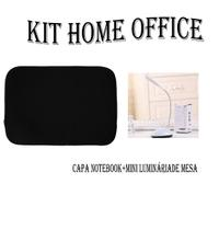 Kit Home Office Capa Para Notebook E Luminária De Mesa Led - Mothelucci