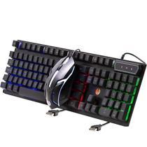 Kit Home Teclado E Mouse Usb Com Led Abnt2 Com Ç Haiz Hz300 -