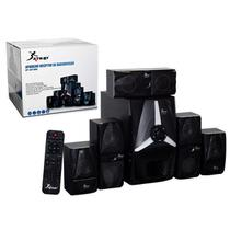 Kit home theater 5.1 125w rms bluetooth subwoofer radio portatil digital usb sd fm bivolt - Knup