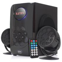 Kit home theater bluetooth subwoofer caixa de som led digital radio portatil digital fm usb sd fm bi - Knup