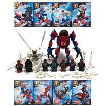 Kit Homem Aranha Big Venom 8x Bonecos Blocos de Montar Bigfigure DLP 9092 -