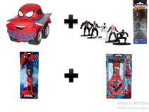 Kit Homem Aranha: Chuck + Mão Biônica + Relógio + Nano Metalfigs - Dtc
