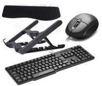 KIT Homeoffice- Suporte Notebook, Teclado e Mouse USB e Key Pad - Masticmol,Multilaser