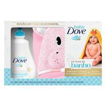 Kit Hora Do Banho Dove Baby Sabonete Líquido Hidratação Enriquecida 400ml + Toalha de Banho Baby Hipopótamo -