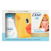 Kit Hora Do Banho Dove Baby Sabonete Líquido Hidratação Enriquecida 400ml + Toalha de Banho Baby Pato -