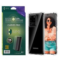 Kit HPrime Película Curves Pro 3 + Capa para Samsung Galaxy S20 Ultra 6.9 -
