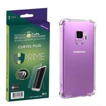"Kit HPrime Película Curves Pro 3 + Capa para Samsung Galaxy S9 5.8"" -"