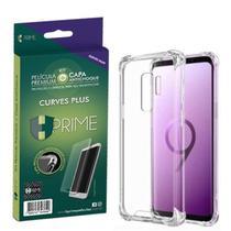 "Kit HPrime Película Curves Pro 3 + Capa para Samsung Galaxy S9 Plus 6.2"" -"