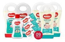Kit Huggies Baby Extra Suave 3 Sabonete Liquido 3 barra shampoo condicionador colônia 09 itens -