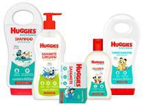 Kit Huggies Extra Suave Shampoo Grande 400ml + Cond +colonia + Sabonete Liquido Camila + barra -