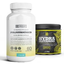 Kit Hydra Glutamina 150 + Polivitamínico sabor: Natural - Iridium Labs