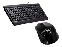 Kit Hz14 Teclado Usb E Mouse Sem Fio Home Office Escritorio - Haiz