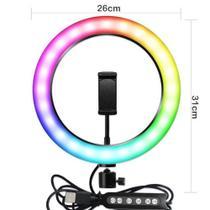 Kit iluminação 12 polegada colorido ringlight rgb led anel luz 30 cm - Soft Ring Light