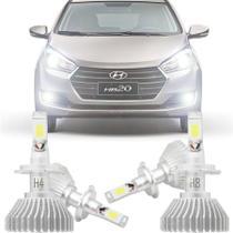 Kit Iluminação Completo Super Led Xenon Baixo Alto Milha Hyundai Hb20 2012 13 14 15 16 17 18 19 H4 H8 - Tiger