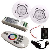 Kit Iluminação para Piscinas com 2 Refletores, Controlador RGB TouchScreen LED e Fonte FLUIDRA -