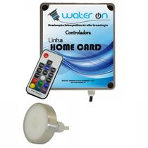 Kit Iluminação Piscina 1 Refletor 12w Led RGB + Central Comando CARD - Water ON