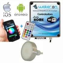 Kit Iluminação Piscina 1 Refletor 12w Led RGB + Central Comando WiFi Plus - Water ON