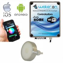 Kit Iluminação Piscina 1 Refletor 12w Led RGB + Central Comando WiFi SMART - Water ON