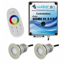 Kit Iluminação Piscina 2 Refletores 12w Led RGB + Controladora Touch - Water ON