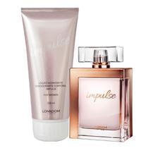 Kit Impulse For Women com Perfume Feminino edp e Hidratante Perfumado Lonkoom -