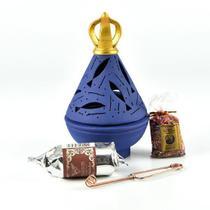 Kit Incensário Nossa Senhora Aparecida Manto Azul - Armazem