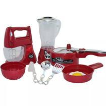 Kit infantil cozinha 9 peças - acessórios + batedeira e liquidificador - Zuca Toys