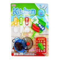 Kit infantil cozinha kitchen cooking set com 11 peças - 99 toys- ddc/fjn -