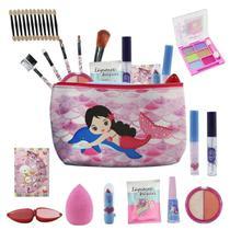 Kit Infantil de maquiagens e itens de beleza para Maleta BZ81 - Bazar Na Web